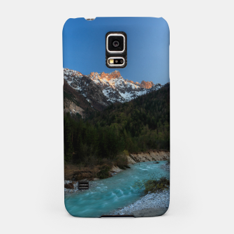 Thumbnail image of Magical sunset over the mountains and river Samsung Case, Live Heroes
