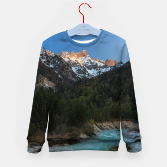 Imagen en miniatura de Magical sunset over the mountains and river Kid's sweater, Live Heroes