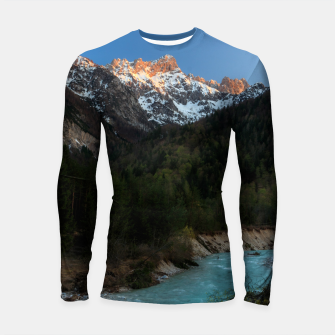 Thumbnail image of Magical sunset over the mountains and river Longsleeve rashguard , Live Heroes