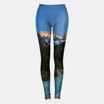 Thumbnail image of Magical sunset over the mountains and river Leggings, Live Heroes
