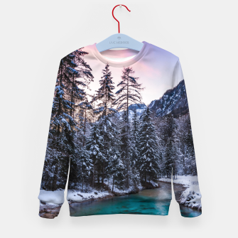 Imagen en miniatura de Magical sunset with turquoise river in Mojstrana, Slovenia Kid's sweater, Live Heroes