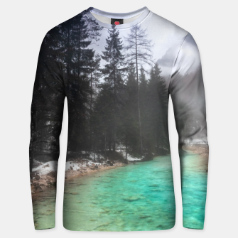 Miniatur Turquoise water in Mojstrana, Slovenia Unisex sweater, Live Heroes