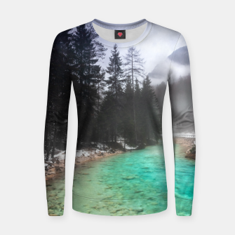Miniatur Turquoise water in Mojstrana, Slovenia Women sweater, Live Heroes