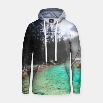 Miniatur Turquoise water in Mojstrana, Slovenia Hoodie, Live Heroes