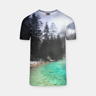 Miniatur Turquoise water in Mojstrana, Slovenia T-shirt, Live Heroes