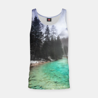 Miniatur Turquoise water in Mojstrana, Slovenia Tank Top, Live Heroes