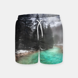 Miniatur Turquoise water in Mojstrana, Slovenia Swim Shorts, Live Heroes