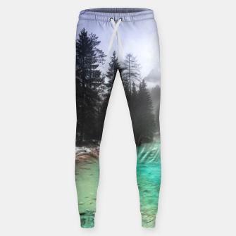 Miniatur Turquoise water in Mojstrana, Slovenia Sweatpants, Live Heroes