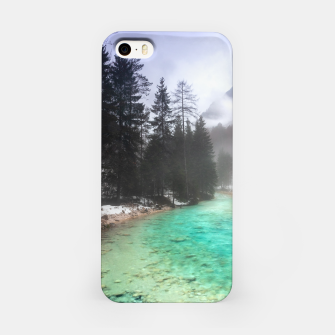 Miniatur Turquoise water in Mojstrana, Slovenia iPhone Case, Live Heroes