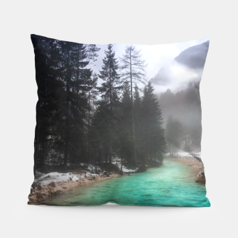 Miniatur Turquoise water in Mojstrana, Slovenia Pillow, Live Heroes
