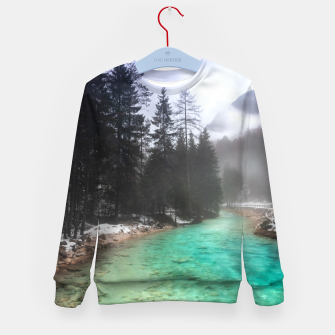 Miniatur Turquoise water in Mojstrana, Slovenia Kid's sweater, Live Heroes