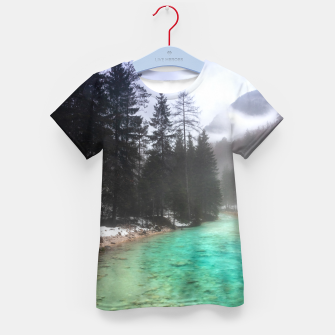 Miniatur Turquoise water in Mojstrana, Slovenia Kid's t-shirt, Live Heroes