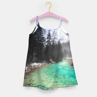 Miniatur Turquoise water in Mojstrana, Slovenia Girl's dress, Live Heroes