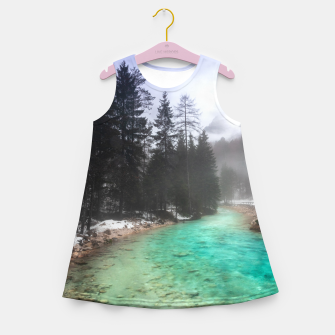Miniatur Turquoise water in Mojstrana, Slovenia Girl's summer dress, Live Heroes