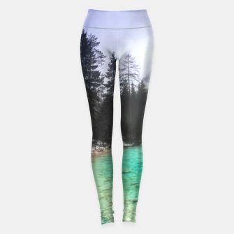 Miniatur Turquoise water in Mojstrana, Slovenia Leggings, Live Heroes