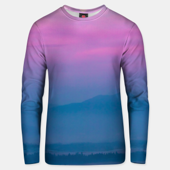 Imagen en miniatura de Bright clouds and moon at sunrise Unisex sweater, Live Heroes