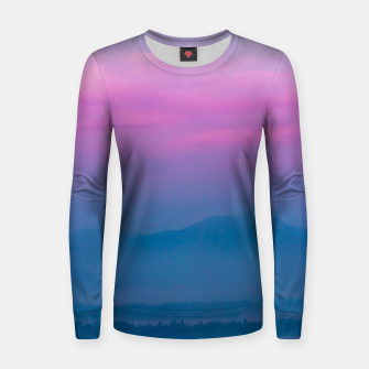 Imagen en miniatura de Bright clouds and moon at sunrise Women sweater, Live Heroes