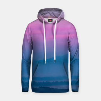 Imagen en miniatura de Bright clouds and moon at sunrise Hoodie, Live Heroes