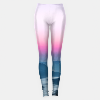 Thumbnail image of River of fog flowing through mountains at sunrise Leggings, Live Heroes