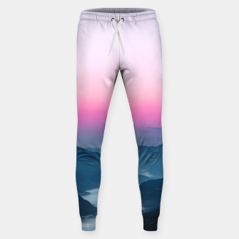Thumbnail image of River of fog flowing through mountains at sunrise Sweatpants, Live Heroes