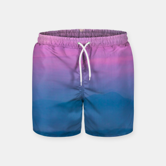 Imagen en miniatura de Bright clouds and moon at sunrise Swim Shorts, Live Heroes