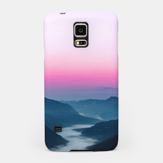 Miniature de image de River of fog flowing through mountains at sunrise Samsung Case, Live Heroes
