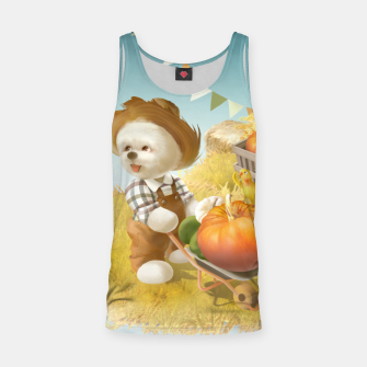 Thumbnail image of Smile Dog with Wheelbarrow Tank Top, Live Heroes