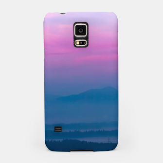 Imagen en miniatura de Bright clouds and moon at sunrise Samsung Case, Live Heroes