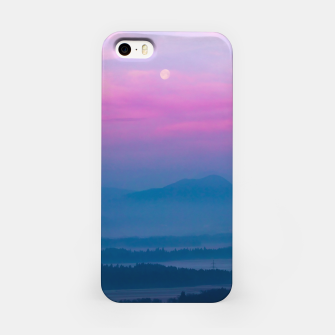 Imagen en miniatura de Bright clouds and moon at sunrise iPhone Case, Live Heroes