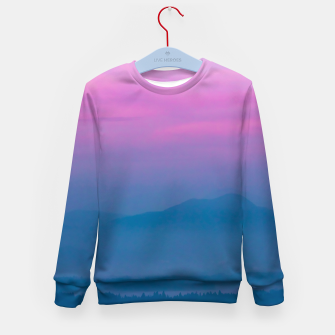 Imagen en miniatura de Bright clouds and moon at sunrise Kid's sweater, Live Heroes