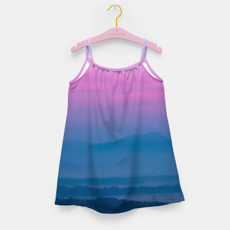 Imagen en miniatura de Bright clouds and moon at sunrise Girl's dress, Live Heroes
