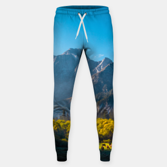 Thumbnail image of Sun rising on horses at lake Fusine, Italy Sweatpants, Live Heroes