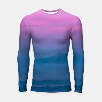 Imagen en miniatura de Bright clouds and moon at sunrise Longsleeve rashguard , Live Heroes