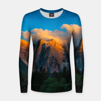 Thumbnail image of Amazing sunset at lago Di Fusine, Italy Women sweater, Live Heroes