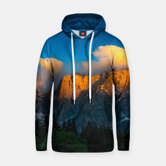 Thumbnail image of Amazing sunset at lago Di Fusine, Italy Hoodie, Live Heroes
