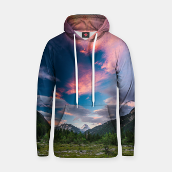 Amazing sunset clouds over mountain Mangart Hoodie thumbnail image