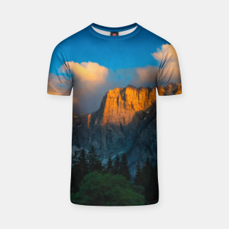 Thumbnail image of Amazing sunset at lago Di Fusine, Italy T-shirt, Live Heroes