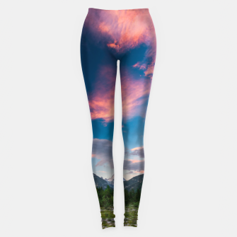 Miniatur Amazing sunset clouds over mountain Mangart Leggings, Live Heroes