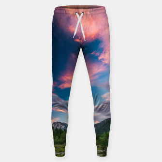 Amazing sunset clouds over mountain Mangart Sweatpants thumbnail image