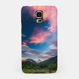 Amazing sunset clouds over mountain Mangart Samsung Case thumbnail image