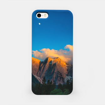 Miniatur Amazing sunset at lago Di Fusine, Italy iPhone Case, Live Heroes