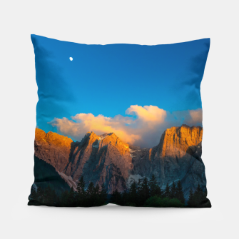 Miniatur Amazing sunset at lago Di Fusine, Italy Pillow, Live Heroes