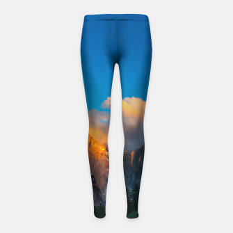Miniatur Amazing sunset at lago Di Fusine, Italy Girl's leggings, Live Heroes