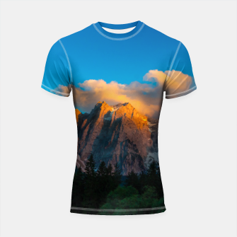 Thumbnail image of Amazing sunset at lago Di Fusine, Italy Shortsleeve rashguard, Live Heroes