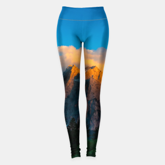 Miniatur Amazing sunset at lago Di Fusine, Italy Leggings, Live Heroes