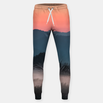 Imagen en miniatura de Foggy landscape at sunset Sweatpants, Live Heroes