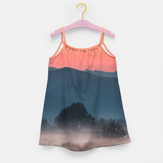 Imagen en miniatura de Foggy landscape at sunset Girl's dress, Live Heroes