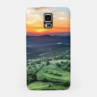 Thumbnail image of Beautiful sunset behind green fields Samsung Case, Live Heroes