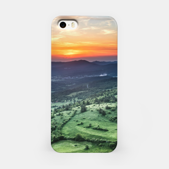 Thumbnail image of Beautiful sunset behind green fields iPhone Case, Live Heroes