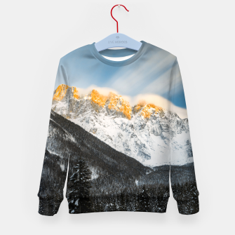 Imagen en miniatura de Last light of sunset on Slovenian Alps Kid's sweater, Live Heroes
